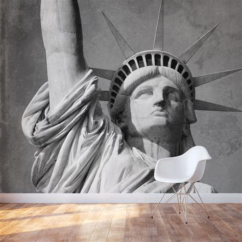 statue  liberty wall mural