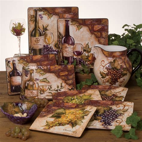 wine decor kitchen accessories images   buy