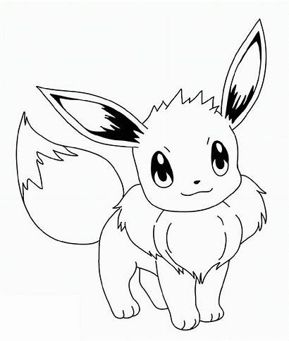 Pokemon Coloring Pages Eevee Evolutions Normal Printable