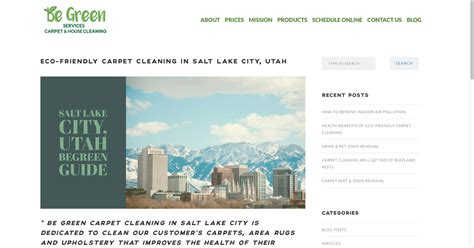 Upholstery Cleaning Salt Lake City by Carpet Cleaning Salt Lake City Ut House Cleaning Be Green