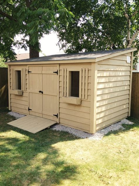 shed up 8x16 lean up shed with 5ft door and two windows