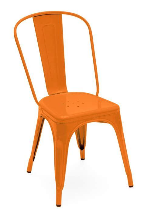 chaise a tolix chaise a de tolix acier laqué potiron