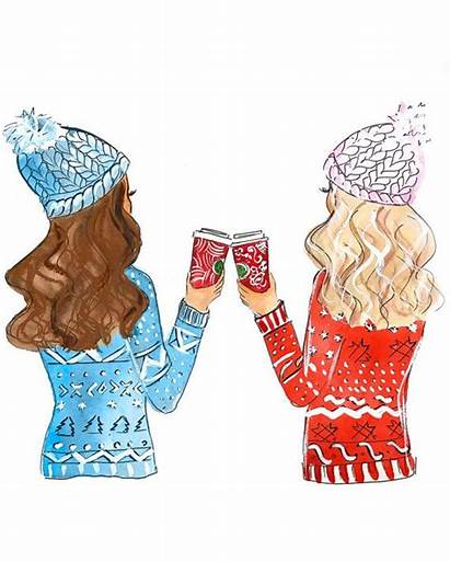 Friends Friend Christmas Drawings Gift Illustration