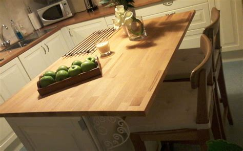 ilot cuisine sur mesure ilot de cuisine avec plan de travail en hêtre le du