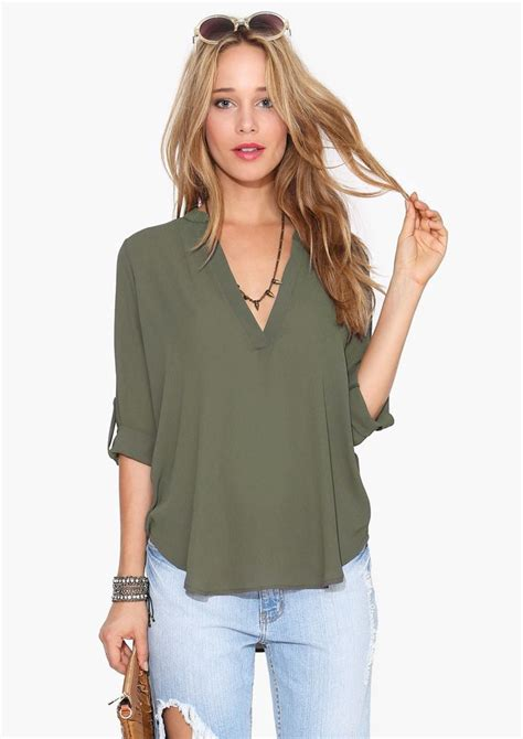 olive green blouse olive green shirt clothes