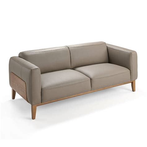 sofa 3 plazas tapizado sof 225 3 plazas tapizado en piel con estructura en madera de