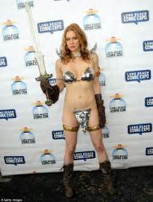 actress from long beach maitland ward in string bikini for appearance as comic