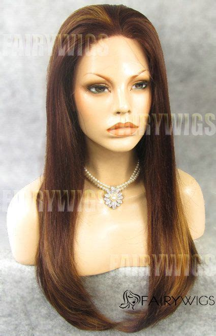 Exquisite Long Brown Female Straight Lace Front Hair Wig