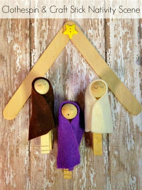 diy clothespin nativity scene tutorial   popsicle