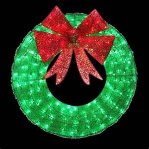 home accents holiday 36 in led green sparkling tinsel wreath w12l0445 the home depot
