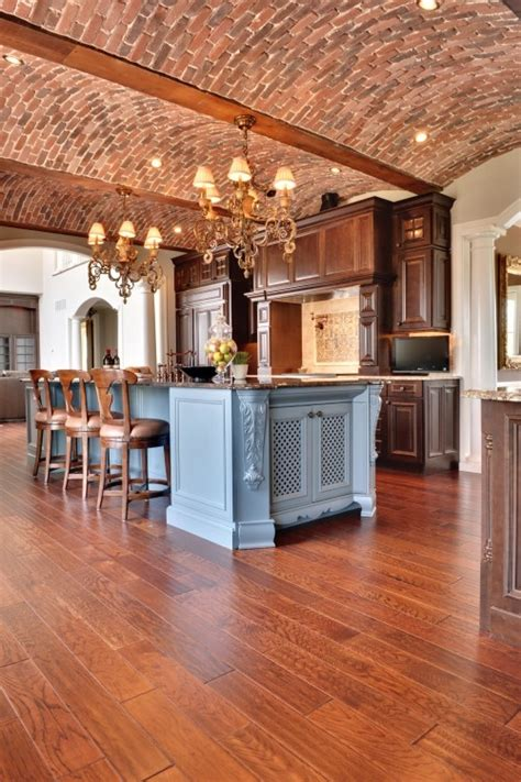 stylish kitchens  brick walls  ceilings digsdigs