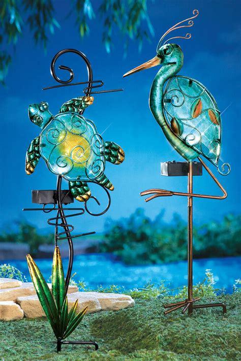 Solar Garden Stakes by Solar Lighted Seashore Decorative Garden Stakes Turtle