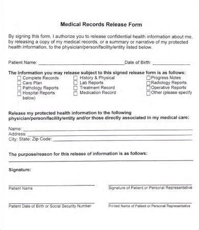 medical records release forms tipsenseme