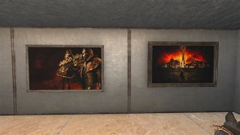 Home Decor Fallout 4 : Fallout Themed Custom Paintings Mod Download