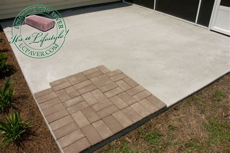 concrete patio with pavers patio pavers what you need to
