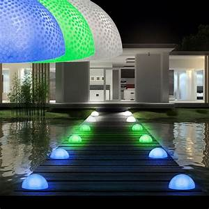 Lampen Für Pflanzen : 18er set led deko garten leuchten halbkugel effekt lampen ip44 au en strahler kaufen bei www ~ A.2002-acura-tl-radio.info Haus und Dekorationen