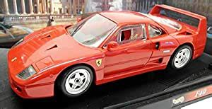 It has great working features including the doors opening , opening bonnet etc… Amazon.com: Hot Wheels 1989 Ferrari F40 diecast Model car 1:18 Scale die cast Red: Toys & Games