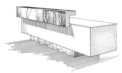 reception desk design custom  diseno de recepcion