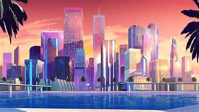 Minimalist 8k Buildings Moonbeam Wallpapers 4k Backgrounds