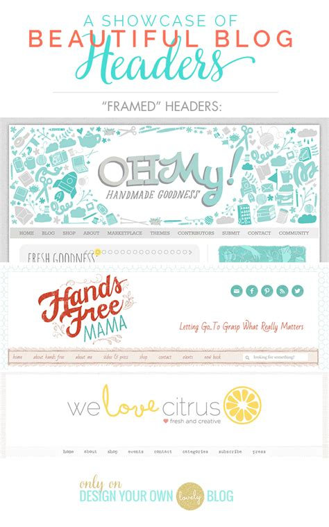 A Showcase Of Beautiful Blog Headers  Design Your Own (lovely) Blog