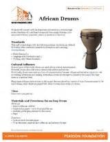 drums craft project reading extension activity grades 1 5 teachervision