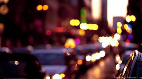 bokeh city lights photo fanciful evening hd