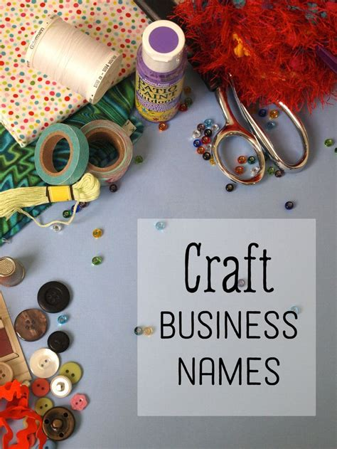 creative craft business names cute business names