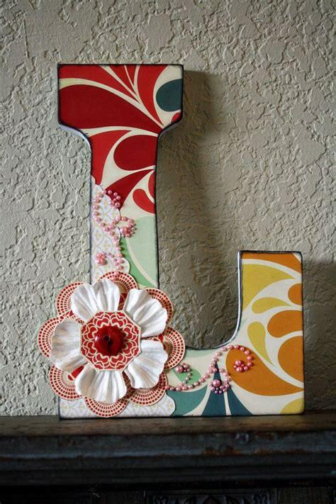 blooming diy monogram letter ideas