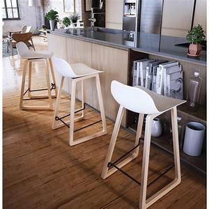 Chaise Bar Cuisine : tabouret de bar chaise de bar mi hauteur scandinave scarlett mini blanc ~ Teatrodelosmanantiales.com Idées de Décoration