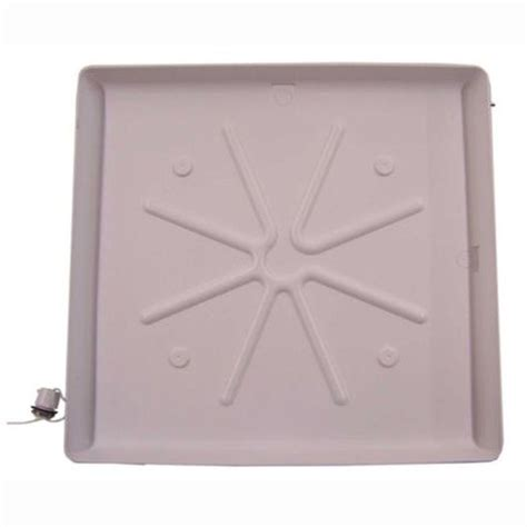 floor mats washing machine ge 30 in x 32 in x 2 in washer floor tray pm7x1ds the home depot