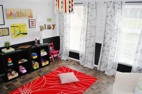 bright childrens ideas  black white red color combination