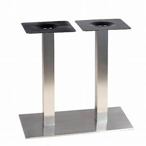 Table Rectangulaire Pied Central : pied de table pour table de 4 personnes en inox bross ultra plat pch 419 one mobilier ~ Melissatoandfro.com Idées de Décoration
