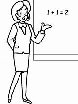Coloring Pages Teacher Printable Labels Job sketch template