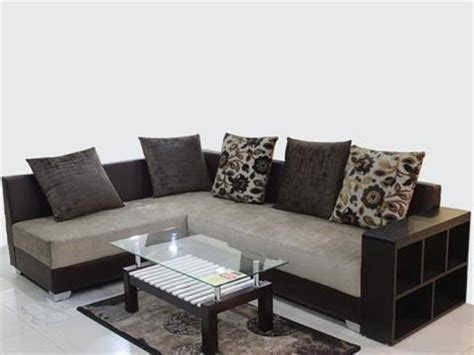 solid wood  shape sofa set warranty  year rs