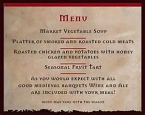 menu for a medieval feast google search wedding menu With tudor menu template