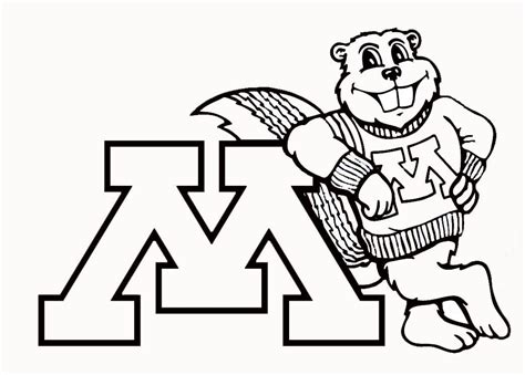 U Of M Coloring Pages