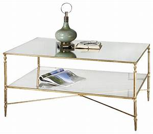 uttermost henzler mirrored glass coffee table in gold With henzler coffee table