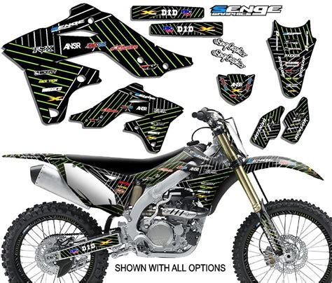 kdx50 graphics kit kdx 50 kawasaki decals deco stickers all years pit bike ebay