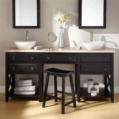 Bathroom Vanities With Makeup Vanity by Vessel Sink Vanities Vanities 72 Clinton
