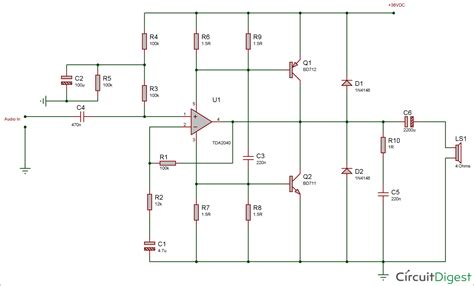 Watt Audio Amplifier Circuit Diagram Using Tda