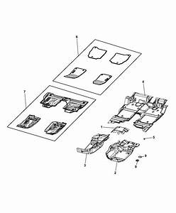 6lj75tx7ac - Genuine Mopar Mat Kit-floor