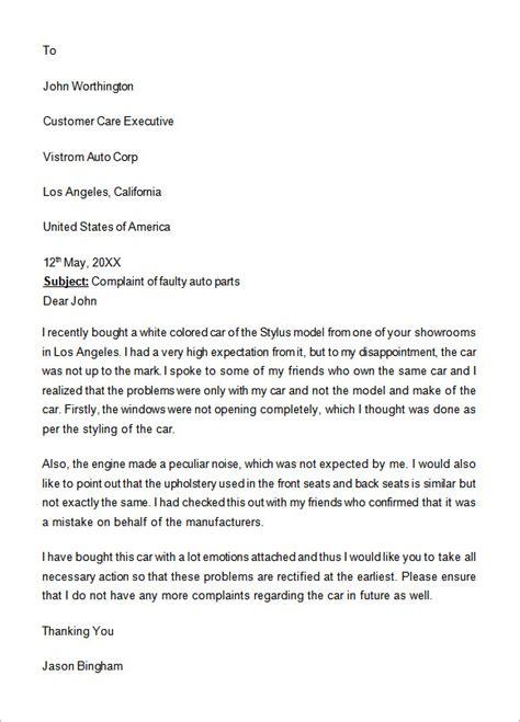 sample complaint letter templates  google docs