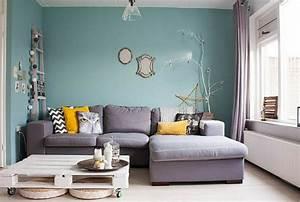 Peinture pour salon quelle couleur choisir for Superior peindre un mur de couleur dans un salon 12 bleu deco peinture bleue bleu ciel bleu turquoise