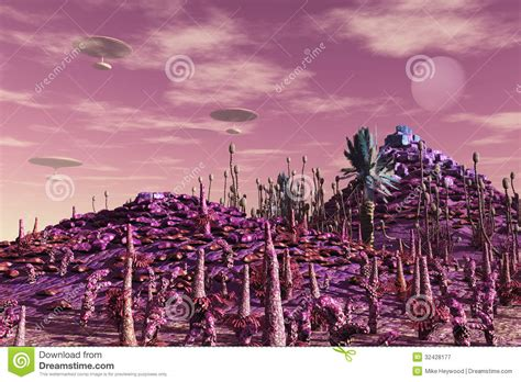 scifi floating cities royalty  stock photography