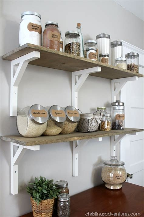 etagere deco cuisine open shelving pantry christinas adventures