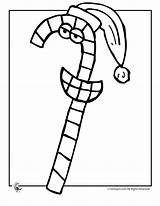 Candy Coloring Cane Pages Christmas Jr Popular sketch template