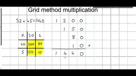multiplication worksheets using grid method grid method multiplication year 4 multiplication grid
