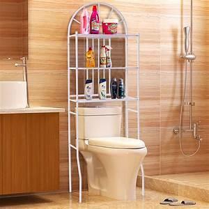 Goplus, 3, Shelf, Over, The, Toilet, Bathroom, Cabinet, Space, Saver, Towel, Storage, Rack, Organizer, White