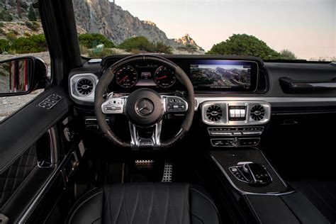 Explore vehicle features, design, information, and more ahead of the release. 2021 Mercedes-AMG G63 Interior Photos | CarBuzz