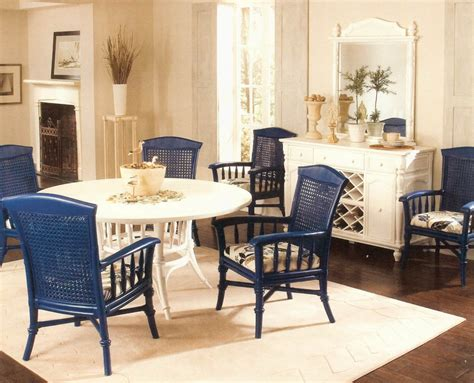 blue dining room table use rattan dining chairs for dining room